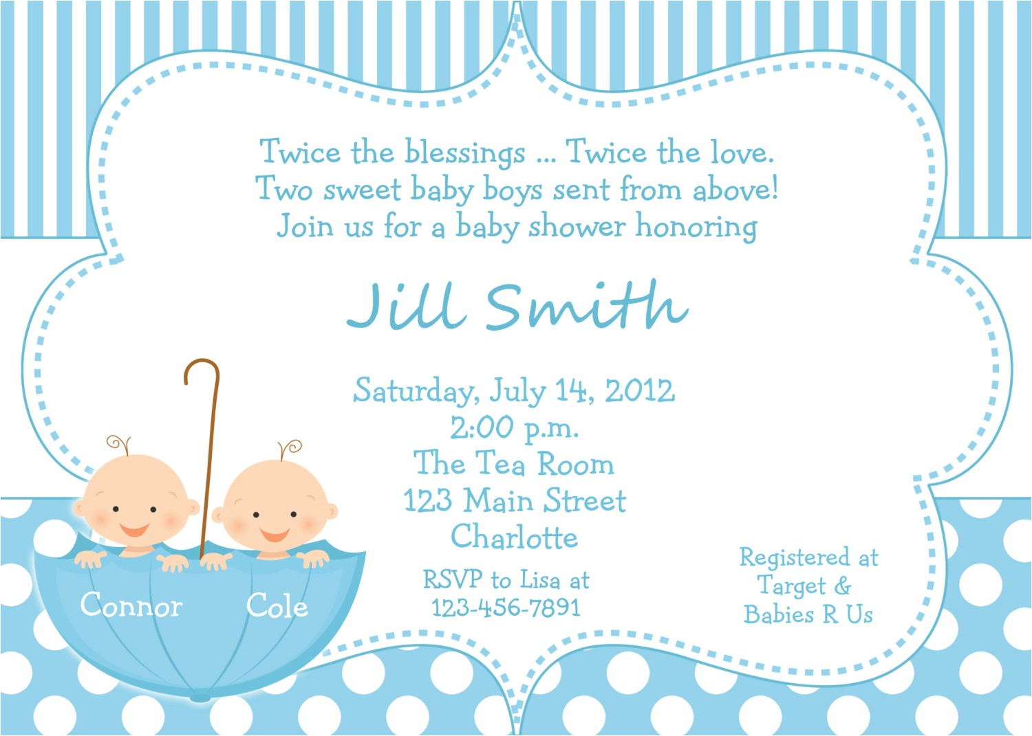 twin baby shower invitations canada 2