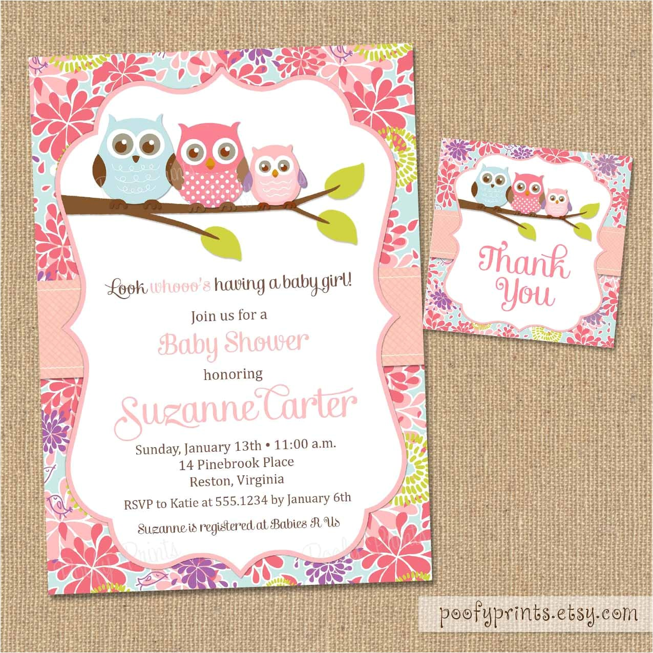 baby free printable girl shower invitations canada