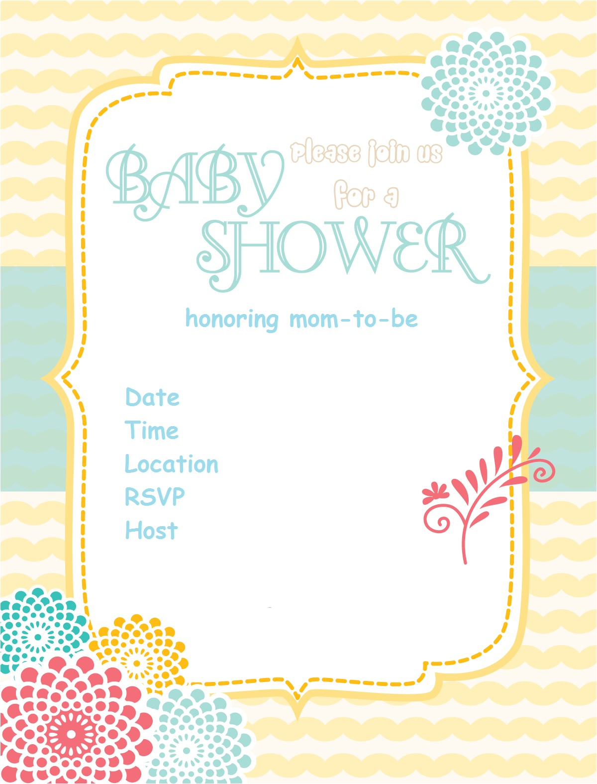 free printable baby shower invitations 4