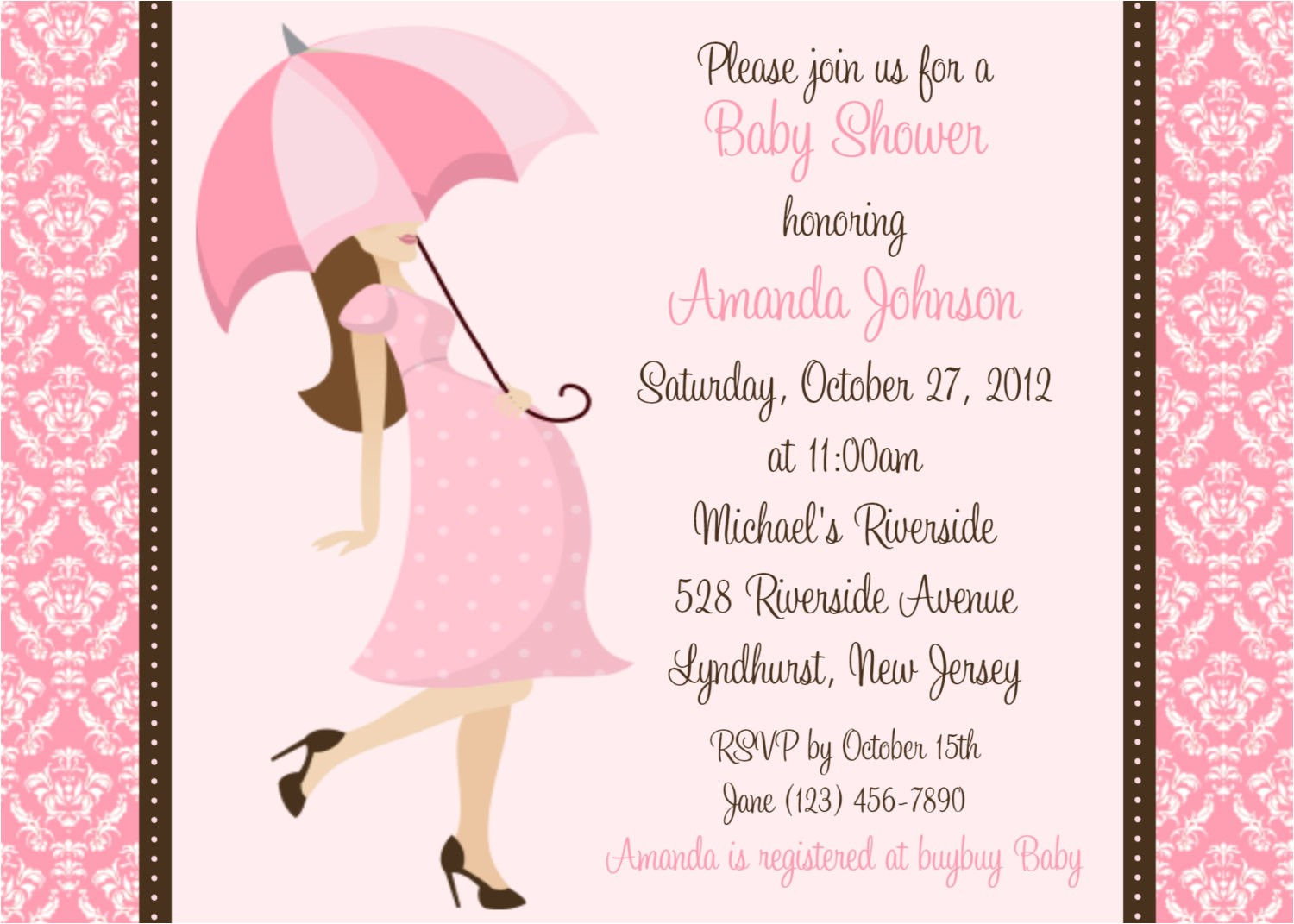 Baby Shower Invites Girl Baby Shower Invitation Wording Fashion & Lifestyle