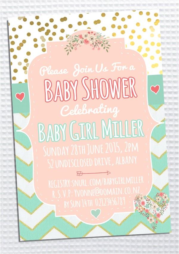 Baby Shower Invites Nz Design Project Baby Shower Invitation