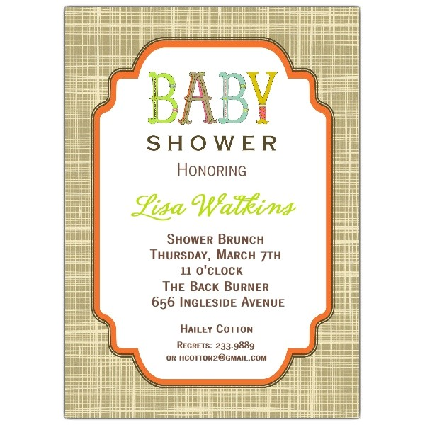 Letter Perfect Uni Baby Shower Invitations p 612 57 IJP