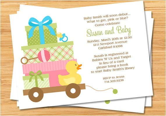 uni baby shower invitation print