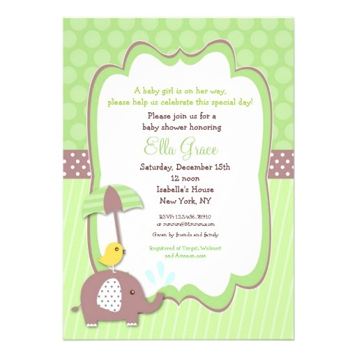 uni baby shower invitations
