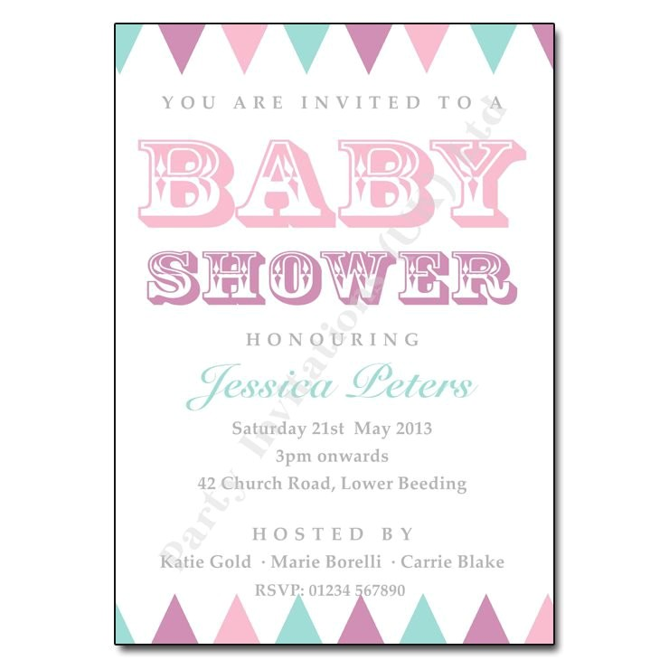 baby shower wording for invitations