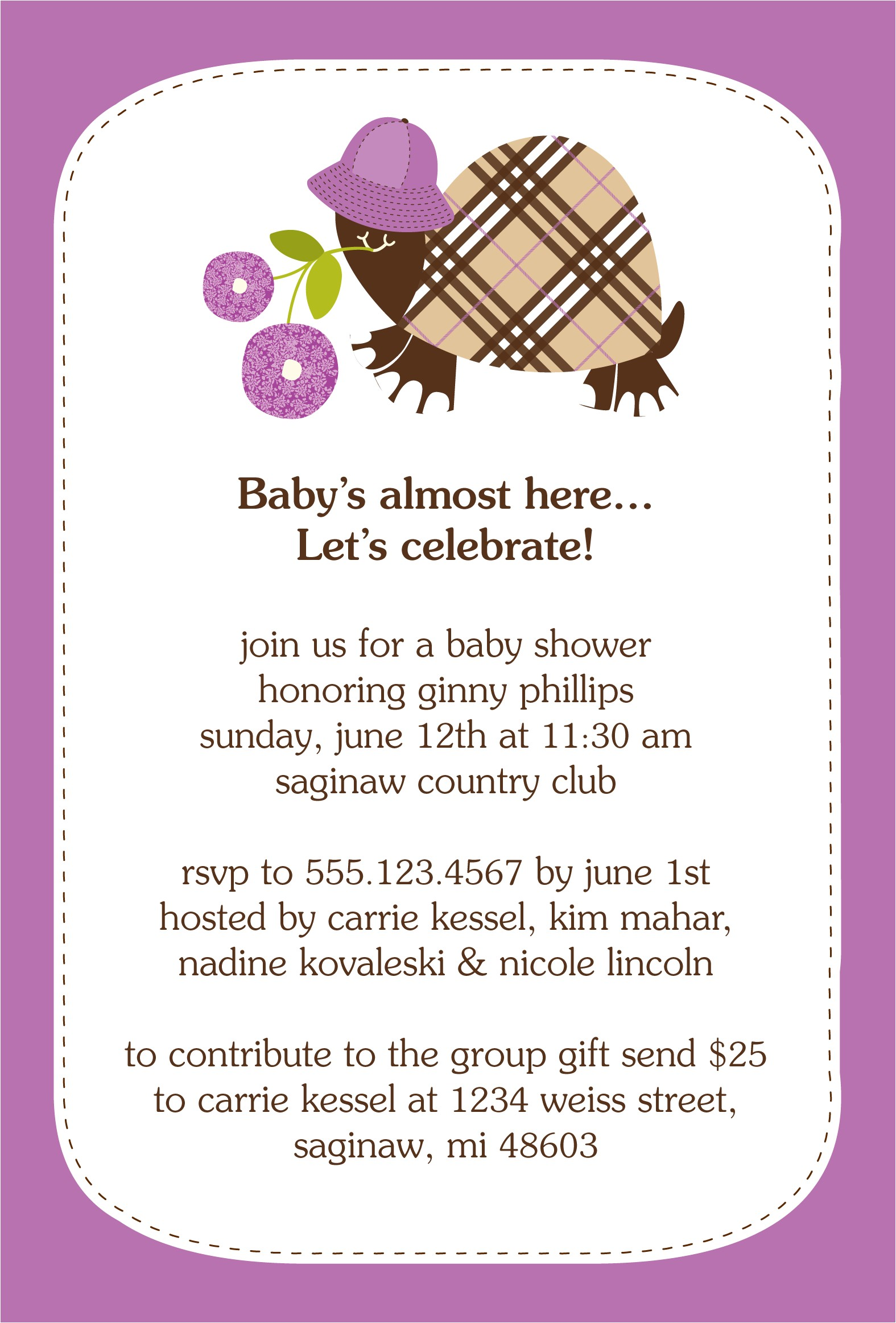 samples of baby shower invitations wording