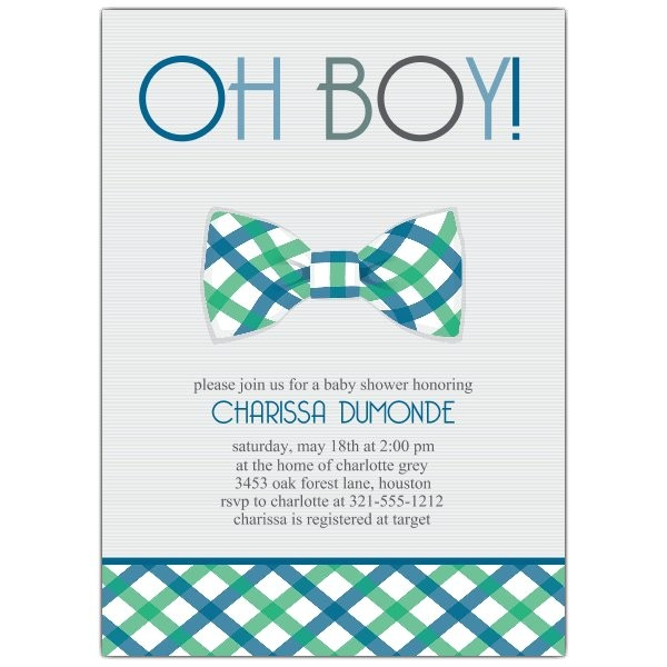 Bowtie Baby Shower Invitations p 643 57 1401