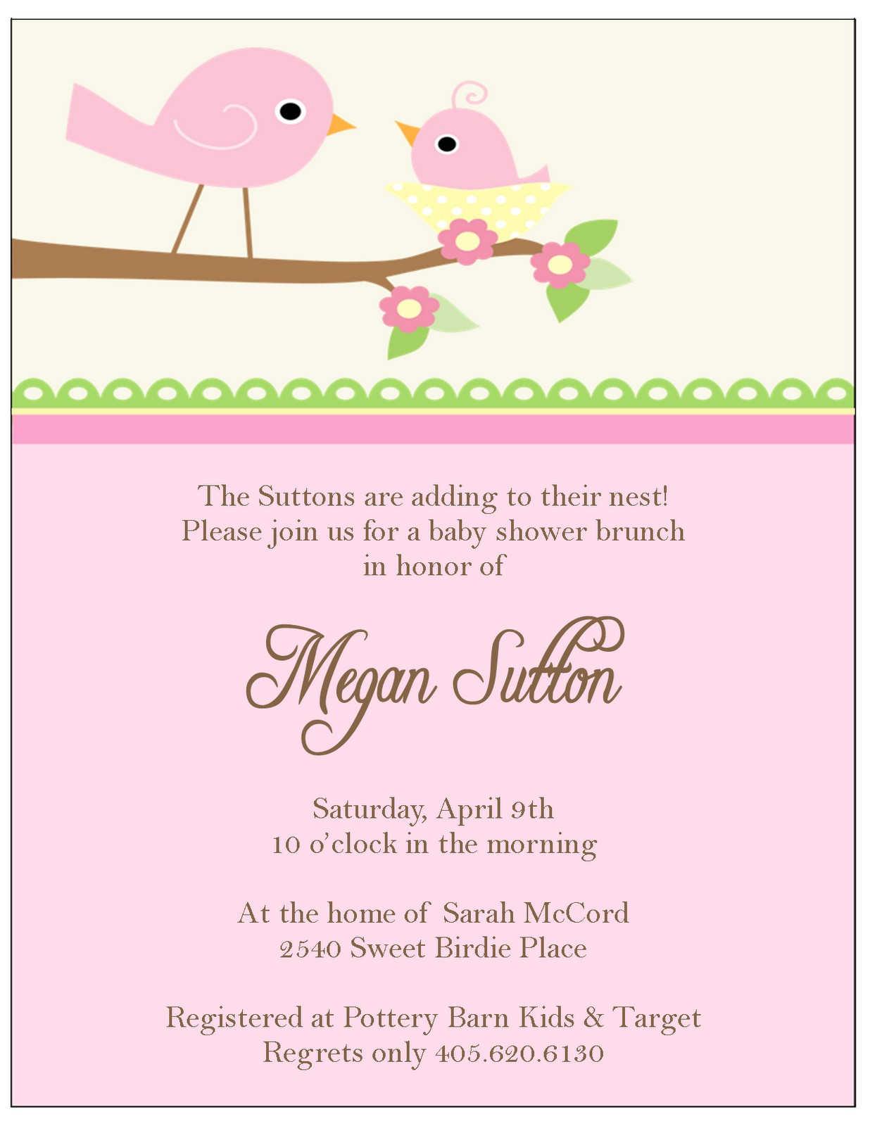 little bir baby shower invitations