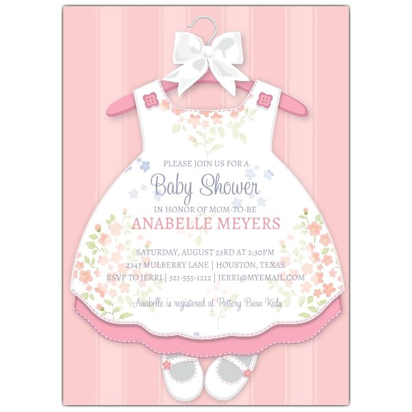 Baby Girl Dress Invitations p 643 57 1416