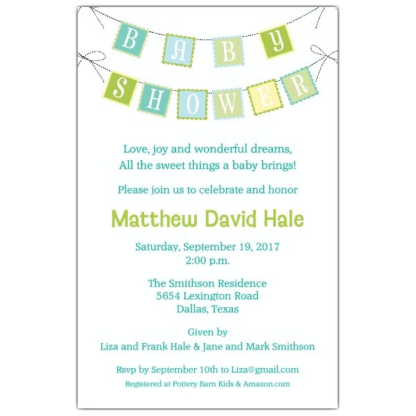 baby shower brunch invitations wording templates