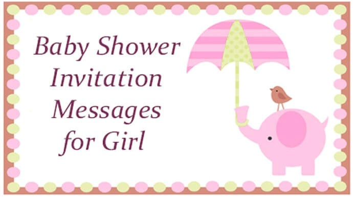 baby shower invitation messages for girl