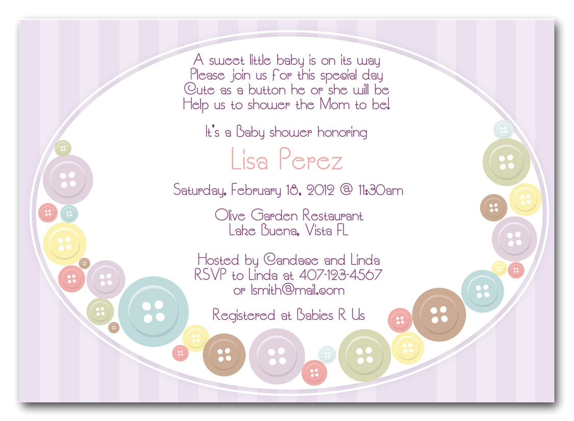 baby shower invitations messages