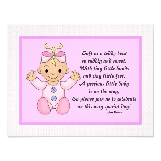 personalized baby shower invitations baby girl