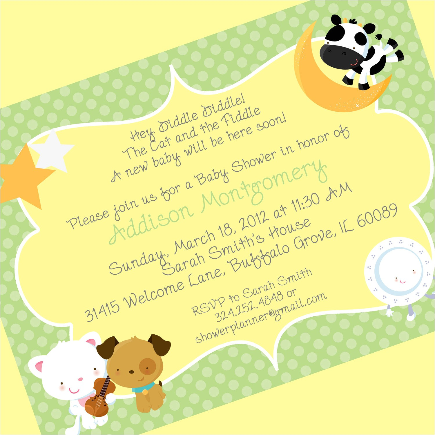 baby shower invite rhymes