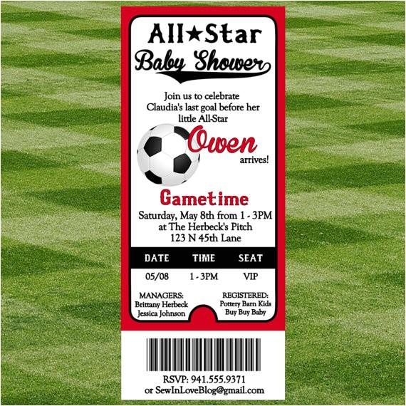 soccer baby shower invitation