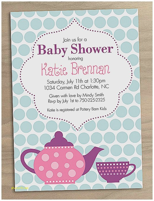 baby shower invitation awesome baby shower high tea invi