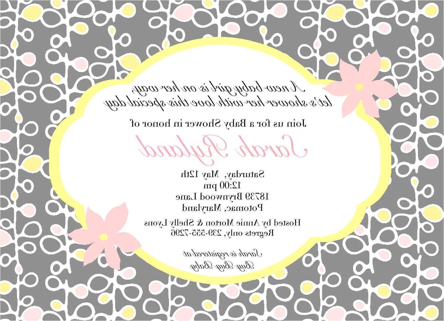Baby Shower Titles for Invitations Baby Shower Invitation Wording Ideas Charming Baby Shower
