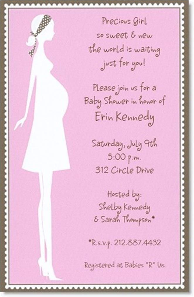 simple design baby shower invitations wording idea