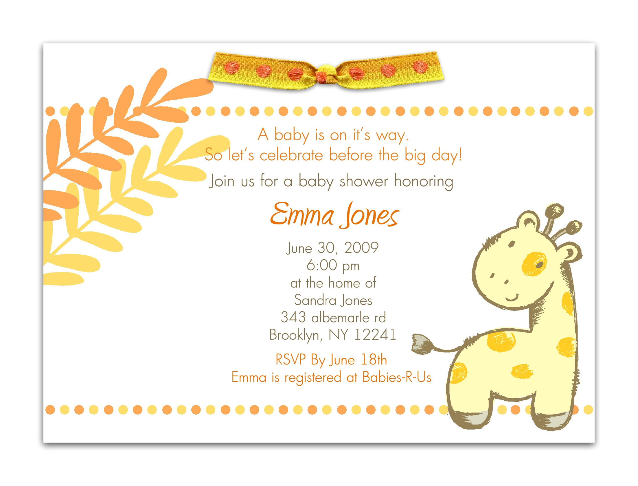 baby shower invitation maker
