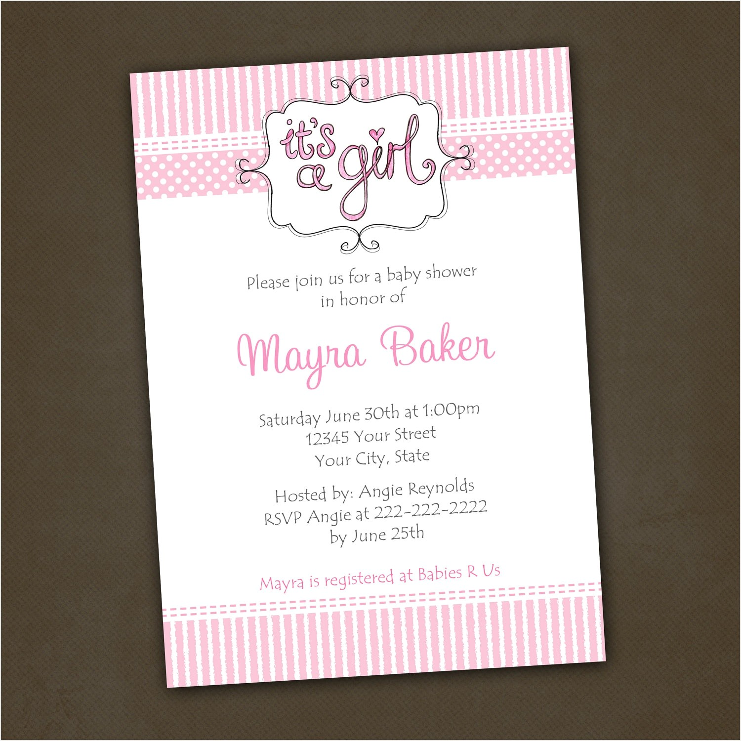 baby shower wishing well invitation wording
