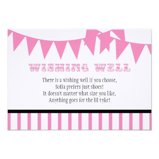carnival baby shower wishing well card invitation