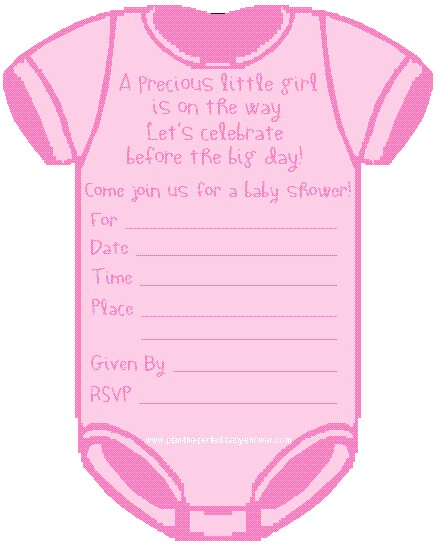invitation cards for baby shower