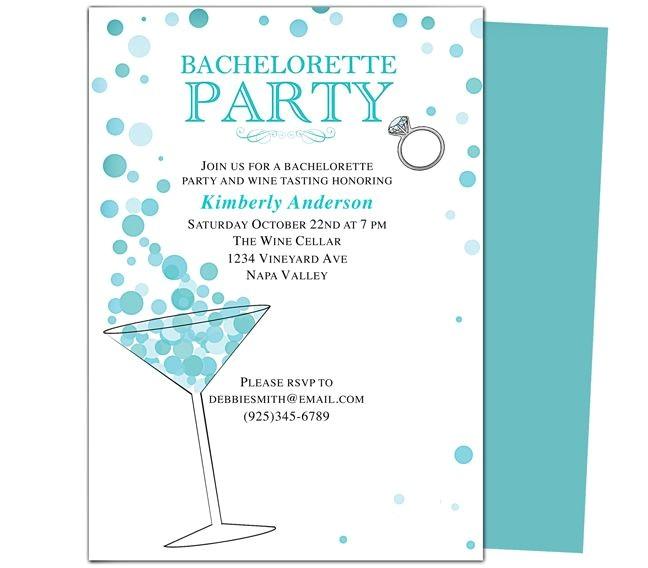 printable diy bachelorette party invitations