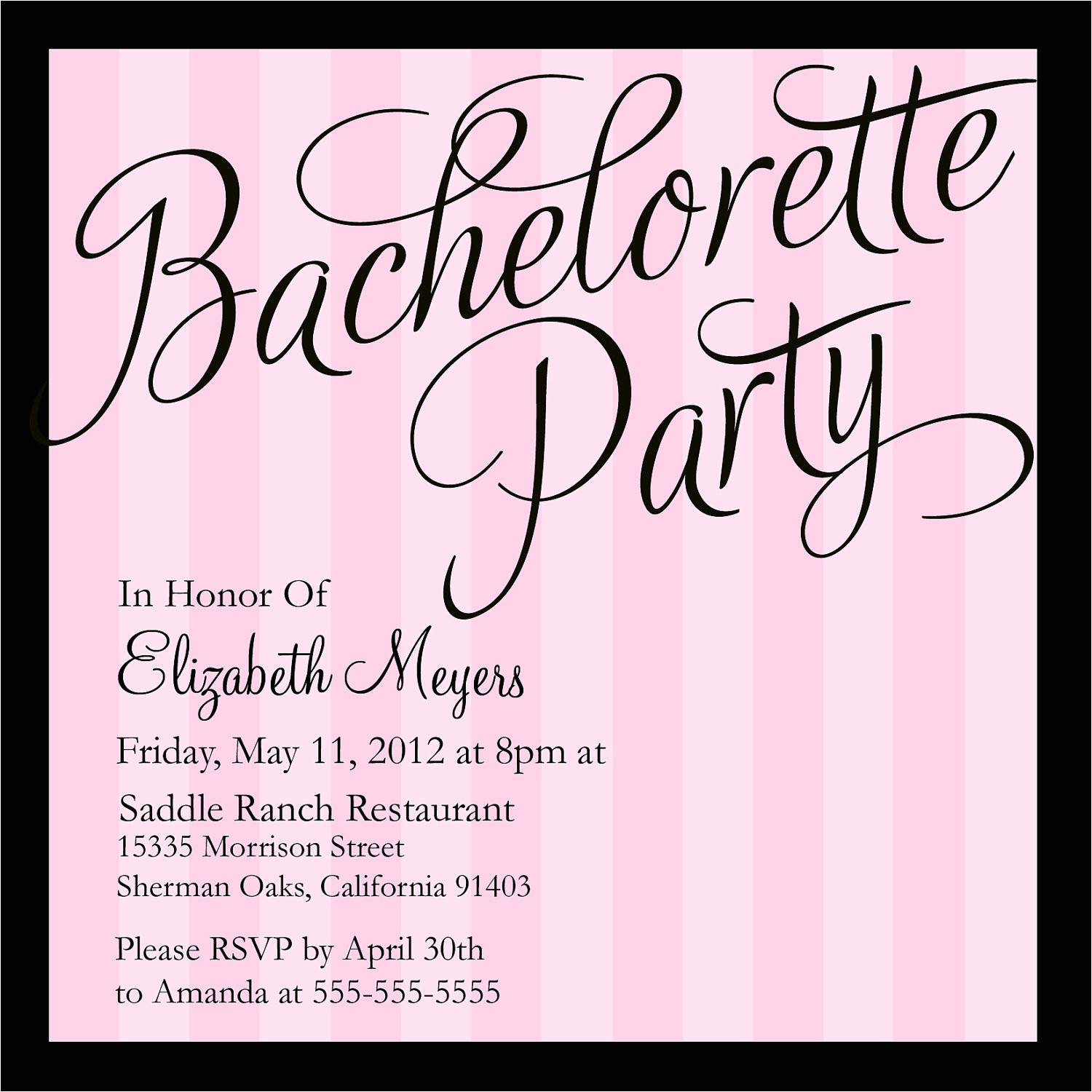 bachelorette party invitations templates