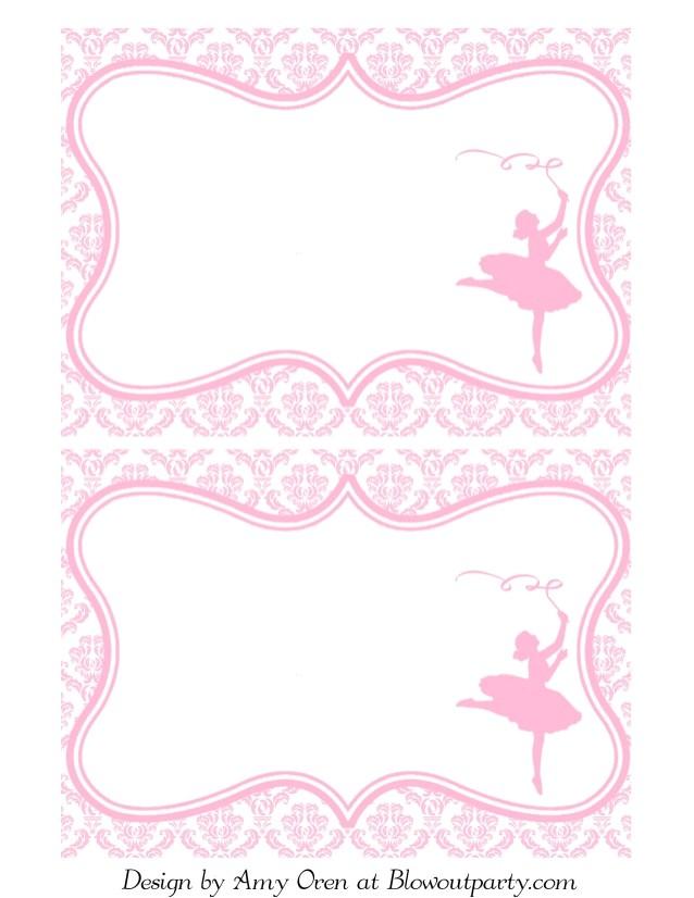 ballerina partyfreeprintableinvitation