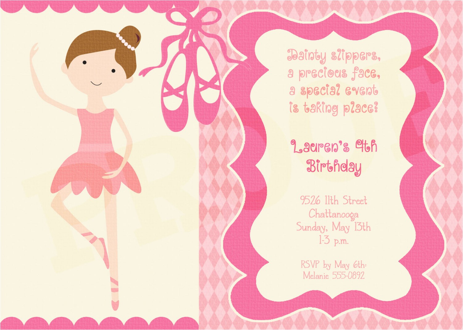 printable ballerina invitation ballerina