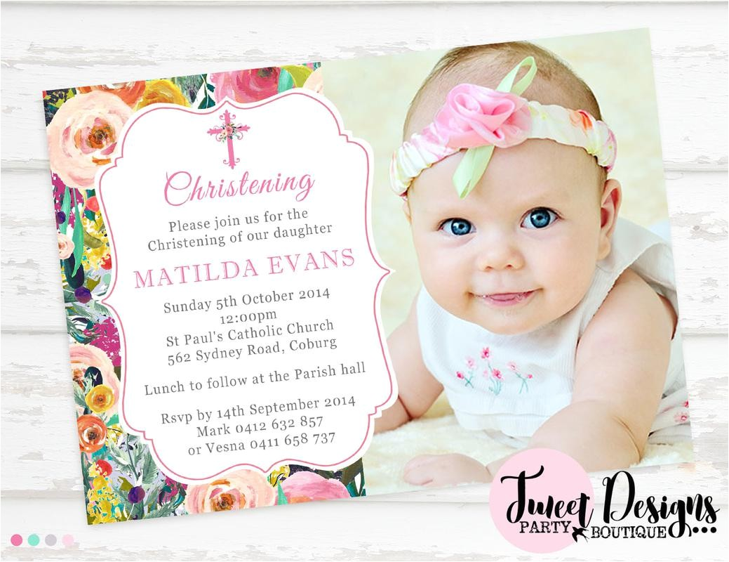 christening party invitation cards