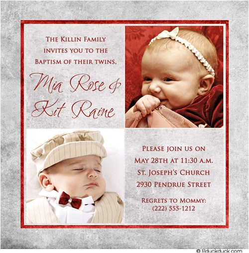 baptism and birthday party to her invitation