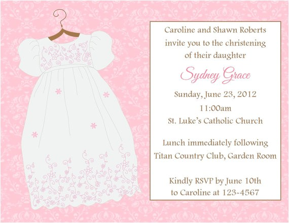 baptism slash christening invitation printable file