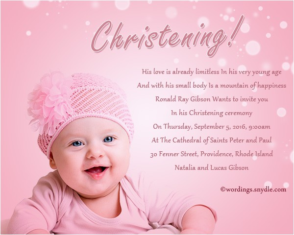 invitation card for christening