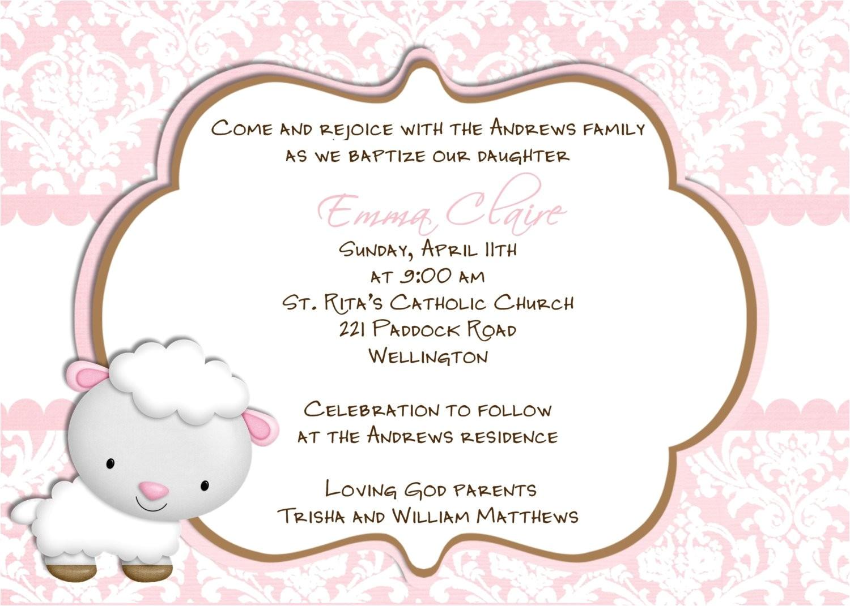 wording for baptism invitations catholic in spanish