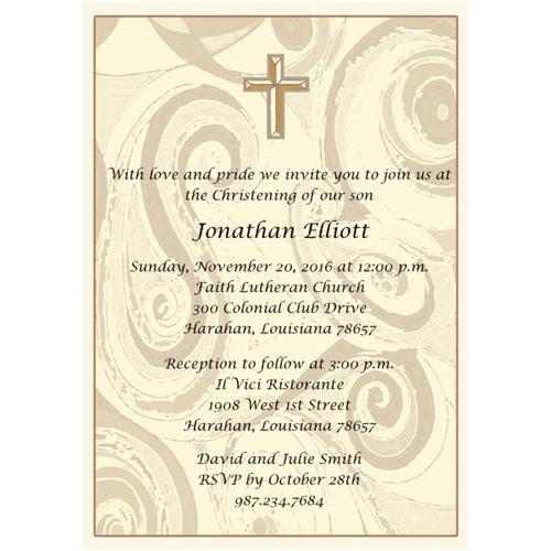 catholic baptism invitation wording