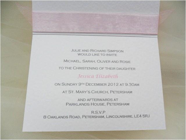 baptism invitation wording for girls