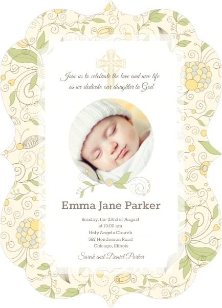 formal christening invitation wording