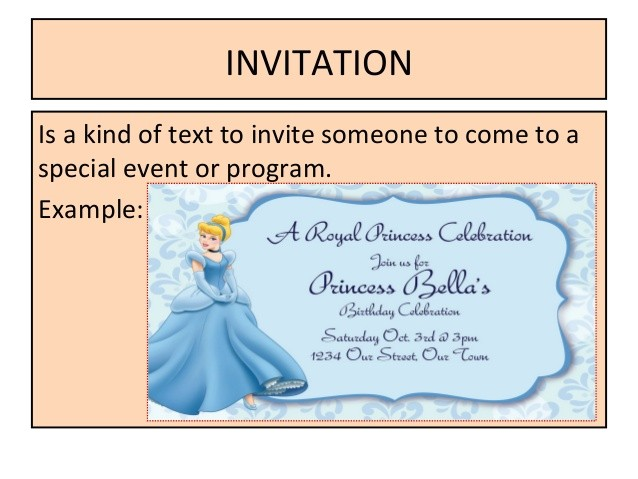 functional text invitation letter