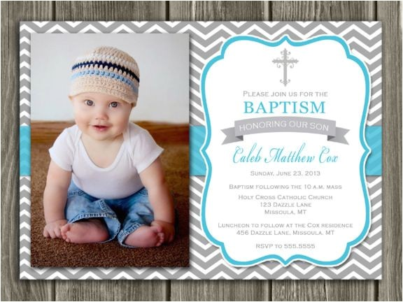 christening invitations boy
