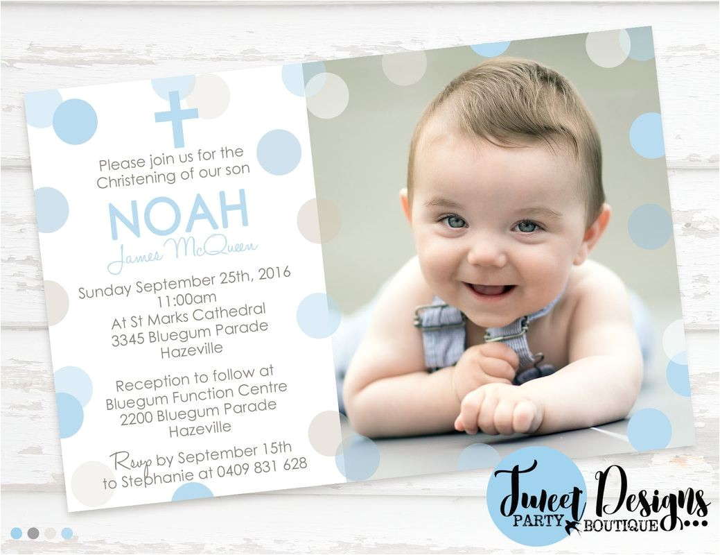 invitation for baptism background for boy