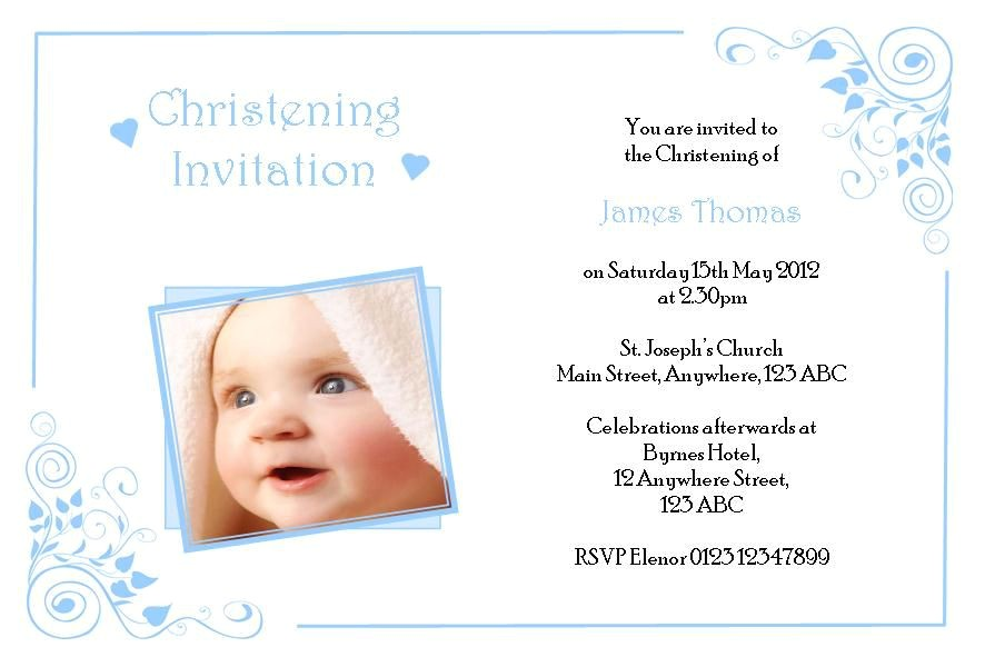 boy baptism invitations