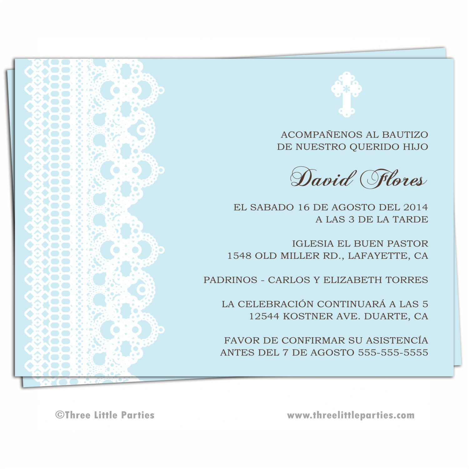 spanish baptism invitation printable