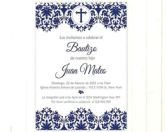 baptism invitation templates in spanish