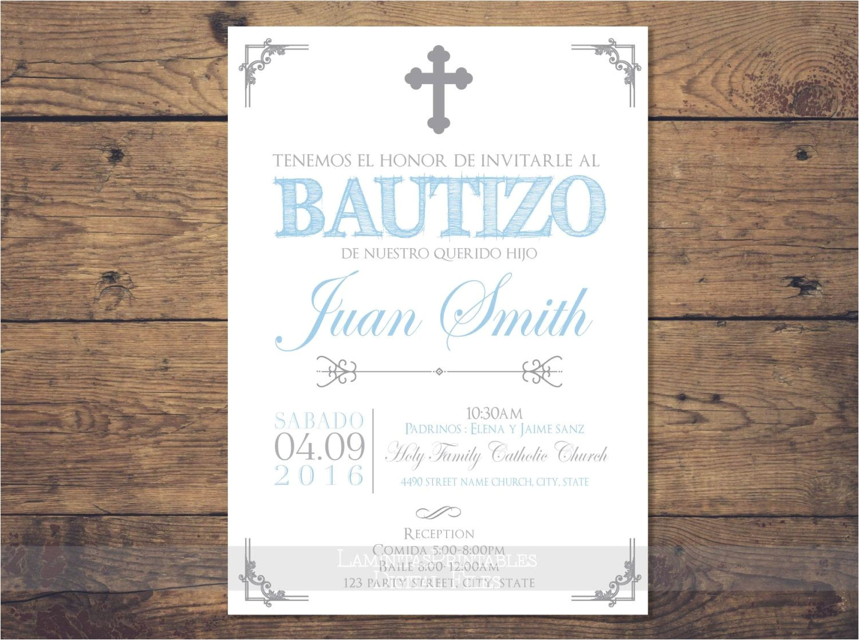 baptism invitations in spanish wording