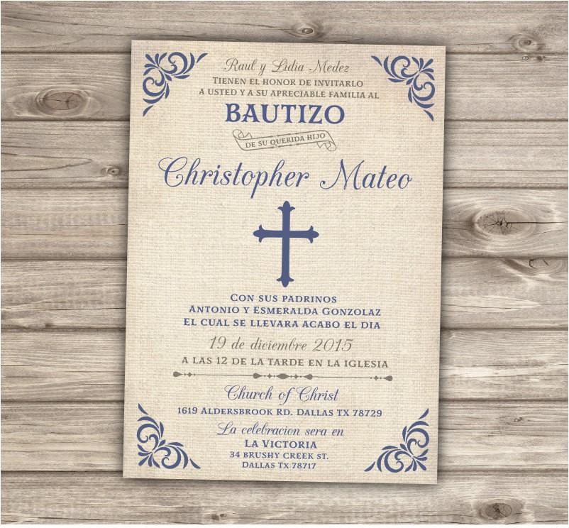 spanish printable baptism christening