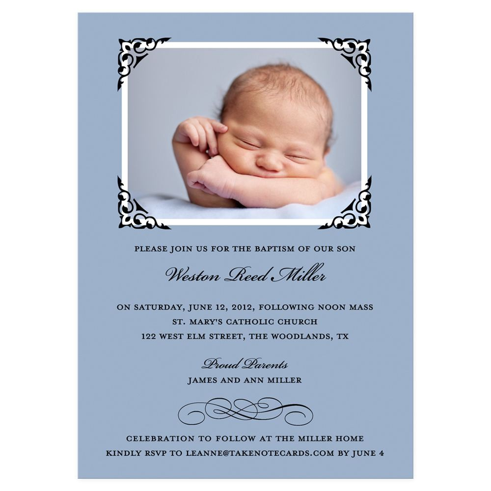 sample baptism invitation wording spanish