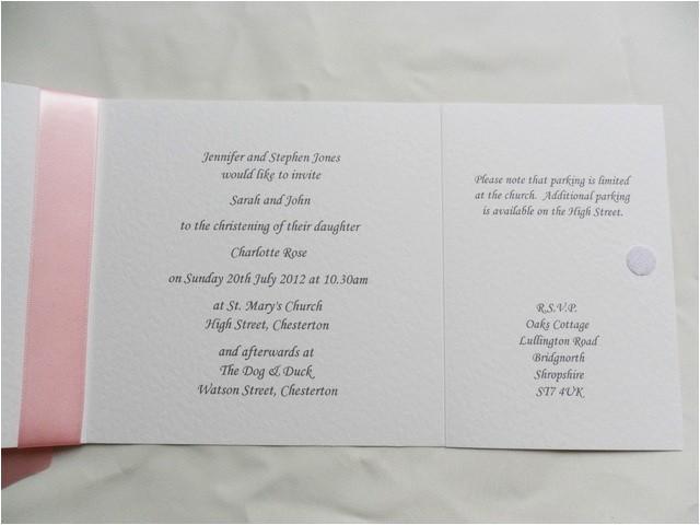 luxury christening invitations