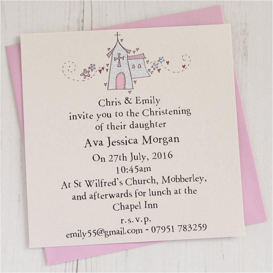 personalised christening invitations