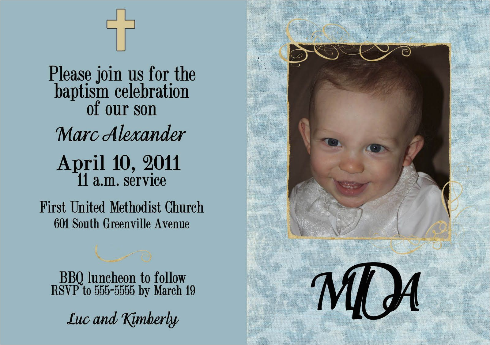 baptism invitation card design